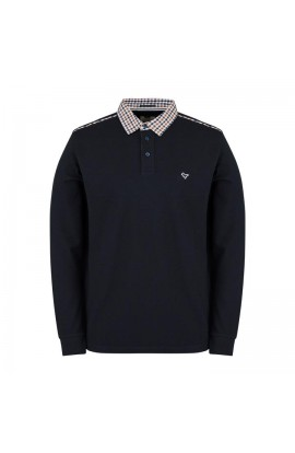 Bentvena Long Sleeve Polo Shirt Navy