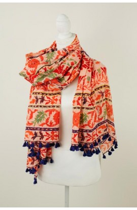 Agra Scarf Red