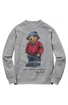 Stone Island Bear Sweater Grey