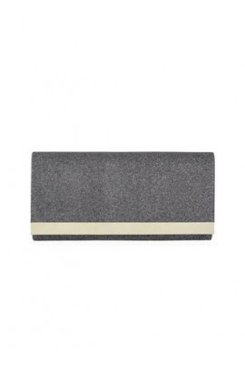Glitzy Clutch Bag Charcoal