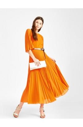 Pleated Dress Orange