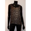Leopard Zip Back Top