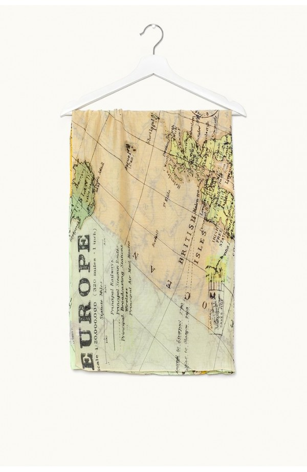 One Hundred Stars Europe Map Scarf