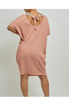 Tie Back Ribbed Tunic (More Colours)