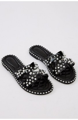 Spike Band Flats Black