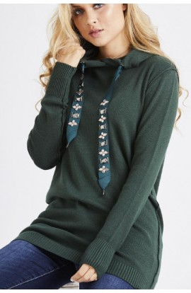 Jewelled Drawstring Hoody (more colours)