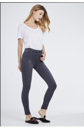 Toxik 3 High Waist Soft Skinny Jeans Grey