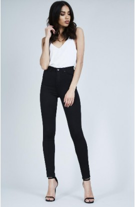 Toxik 3 High Waist Soft Skinny Jeans Black