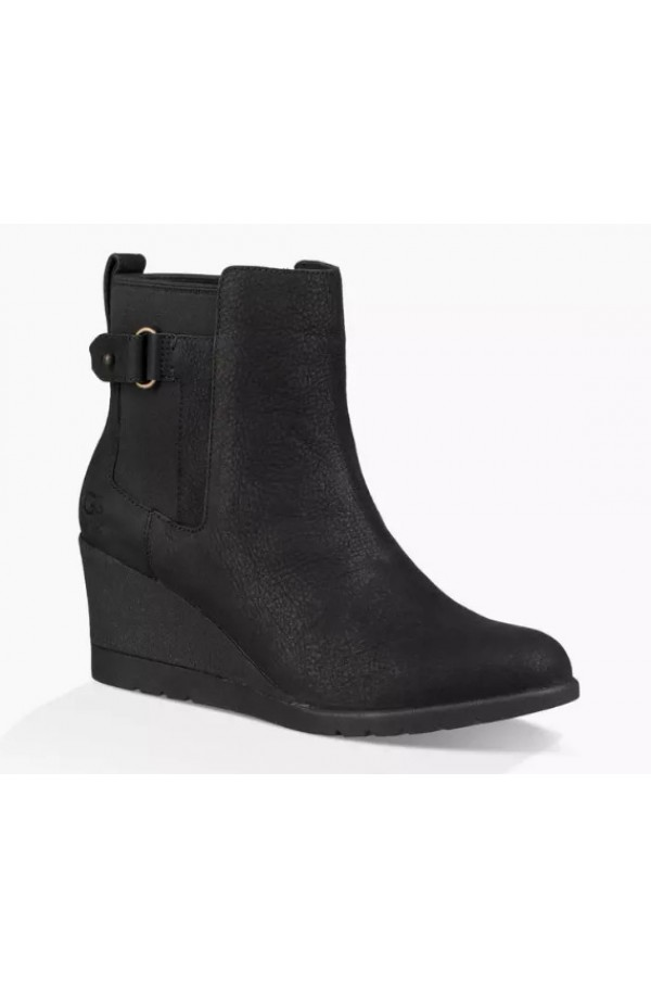 UGG Indra Wedge Boot Black 1017423