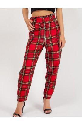 Tartan Trousers Red