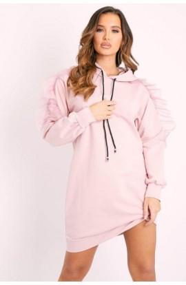 Ruffle Sleeve Jumper/Tunic Pink