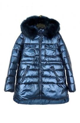 Metallic Padded Jacket Blue