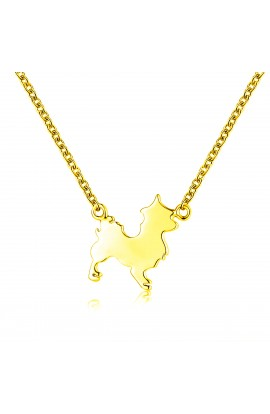 Dog Necklace Gold