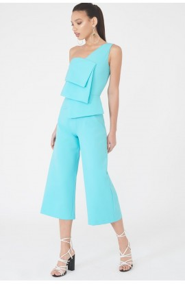Lavish Alice Layered One Shoulder Culotte Jumpsuit LA785