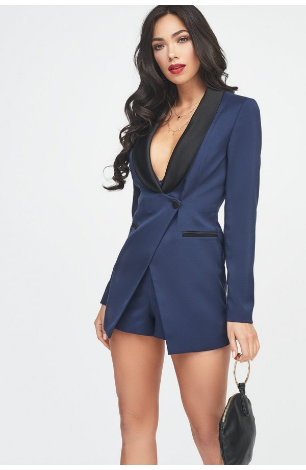 Lavish Alice Tuxedo Jacket Playsuit LA966