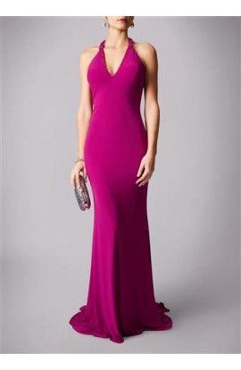 V-Neck Strap Back Gown