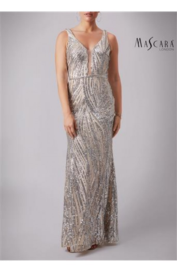 Mascara Silver Wave Dress