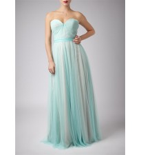Pleated Two Tone Gown