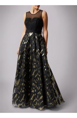 Sequin Top, Leaopard Print Bottom Dress