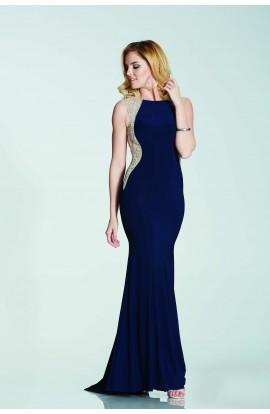 Bead Side Backless Dress