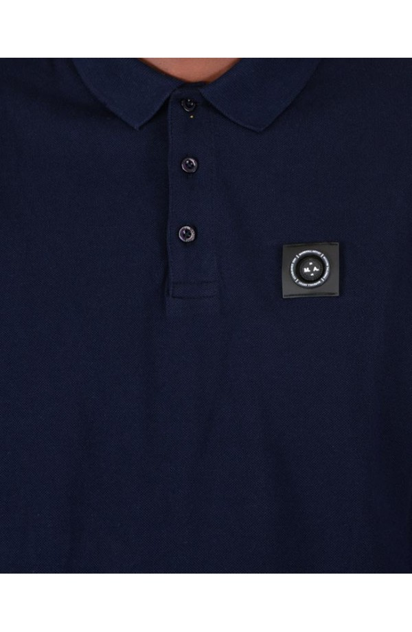 Siren Long Sleeve Polo Shirt Navy
