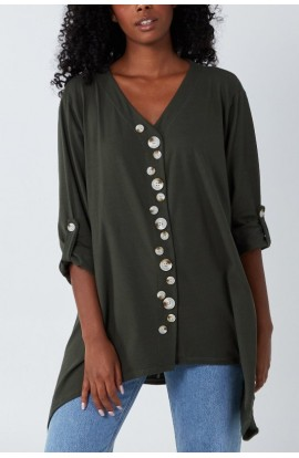 Buttons Detail Top ( More Colours)
