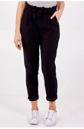 Paper Bag Detail Magic Pants Black