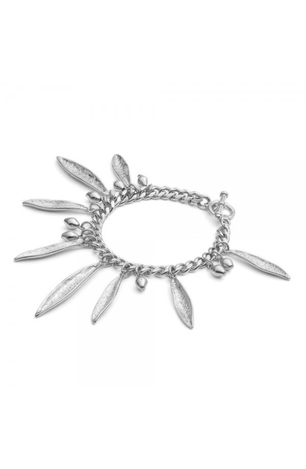Pea Pod Statement Bracelet Silver