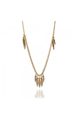 Pea Pod Statement Necklace Gold