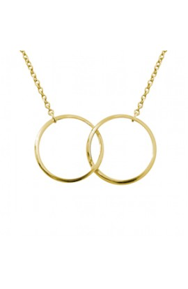 Iconic Two Ring Necklace Gold
