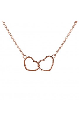 Kismet Heart Necklace Rose Gold