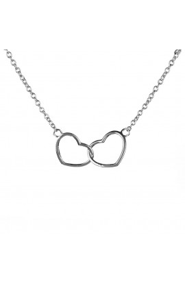 Kismet Heart Necklace Silver