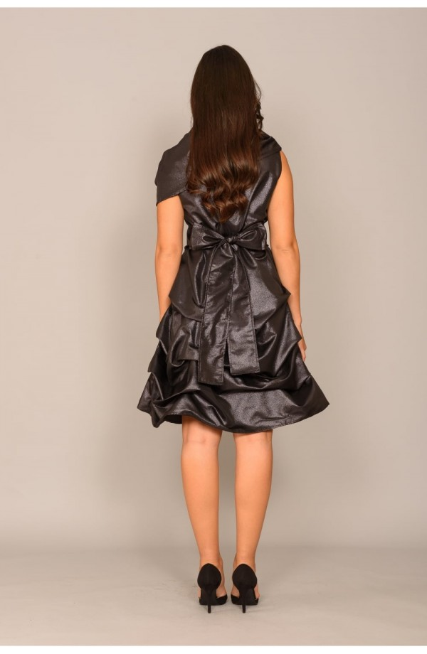Cowl Hitch Dress Black