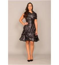 Cowl Hitch Dress Black