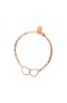 Kismet Heart Bracelet Rose Gold