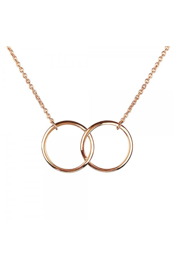 Iconic Kismet Two Ring Necklace Rose Gold