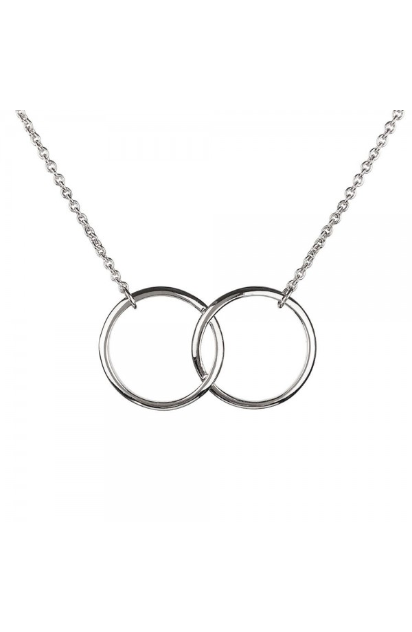 Iconic Kismet Two Ring Necklace SIlver