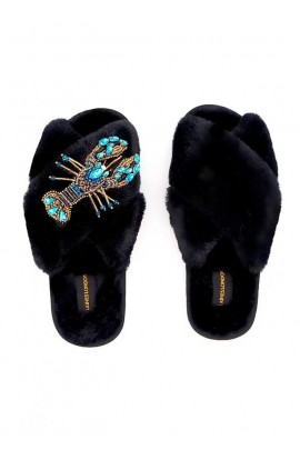 Lobster Brooch Slipper Black