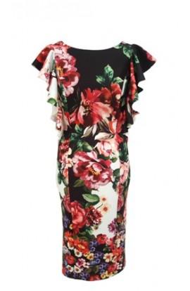 Roses Frill Dress