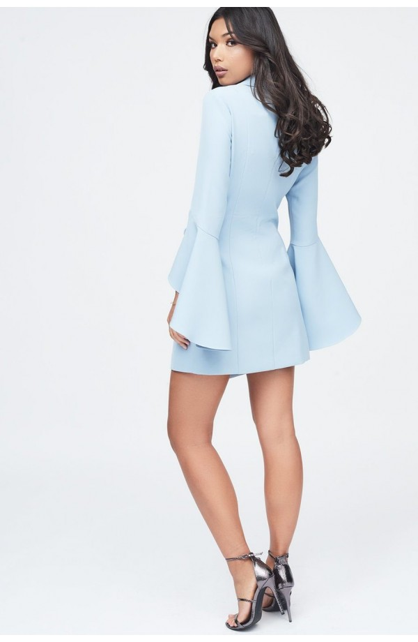 Lavish Alice Bell Ruffle Sleeve Blazer Dress LA11091