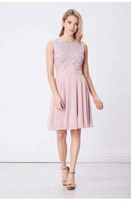 Bead Top Dress Pink