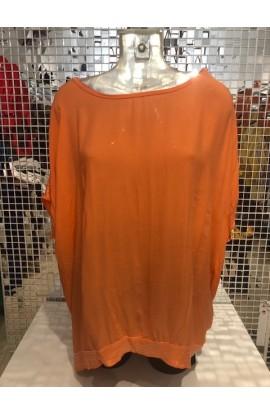 Sequin Trim Top Orange