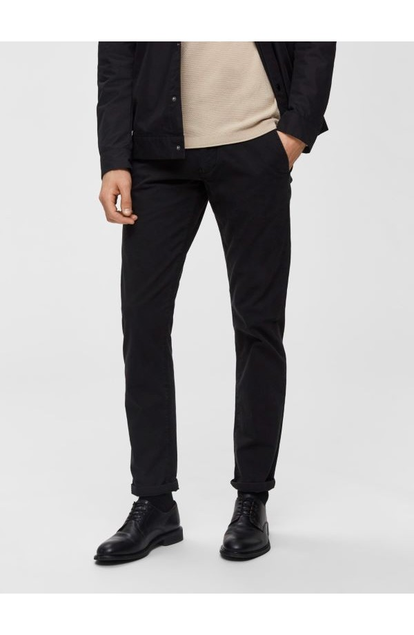 Paris Straight Leg Black Chino