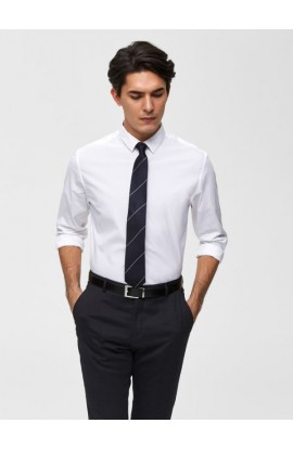 Preston Slim Fit White Shirt