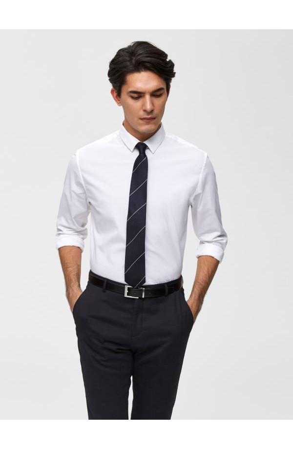 Preston Slim Fit White Shirt