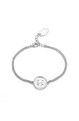 Cute As A Button Bracelet SIlver