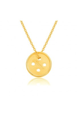 Cute As A Button Necklace Gold