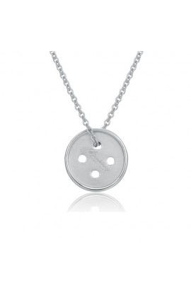 Cute As A Button Necklace Silver