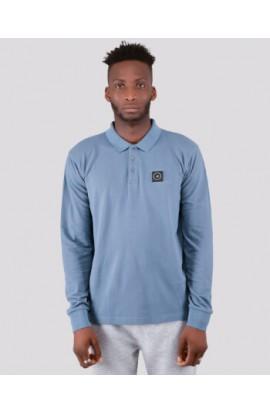 Siren Long Sleeve Polo Shirt Quarry Blue