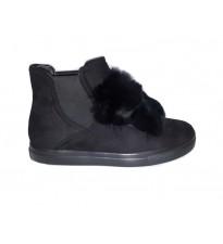 Fur Front Shoes Black
